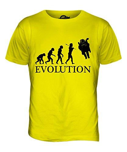 CandyMix Raumfahrer Evolution Des Menschen Herren T Shirt Zitronengelb