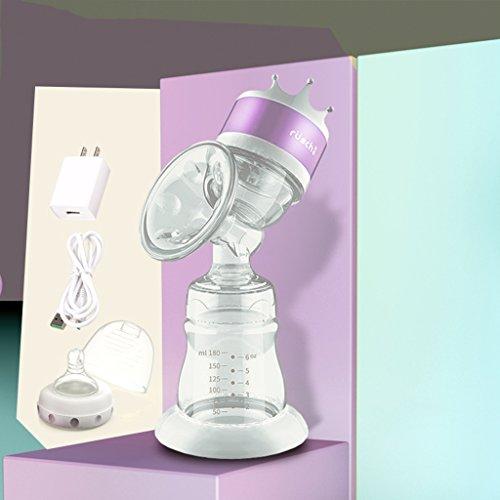 Pompa Elettrica Breastmilk Di Alimentazione Elettrica Del Poppatoio Del USB Della Pompa Elettrica Del Seno Libero & Silicone 100{ad88567fd5f272b8779873eecbfe4d4de683da8419280924bc50e056241f2383} Del Commestibile ( Colore : Viola )