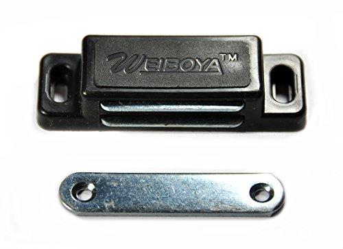 4x 72mm großer Magnet Schnäpper Türmagnet Möbelmagnet Magnetverschluß Türschnäpper Haltemagnet (deutscher Händler!) (schwarz)