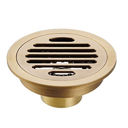 fallrohr abdichten LXDXKA Runde Kupfer Deodorant Bodenablauf Bad Dusche Kanalisation Insekt Prävention und Blockierung Große Verschiebung Bodenablauf 10 cm (Farbe : B)