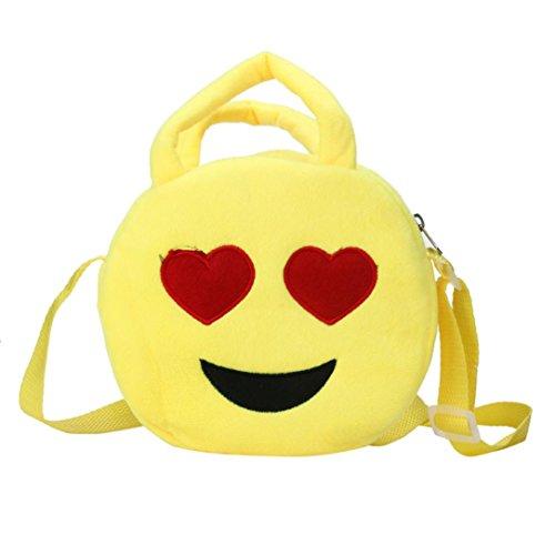Malloom® Nette Emoji Emoticon Schulter Schulkind Taschen Rucksack Schultaschen Rucksack Handtasche (C) (Kalbsleder Schulter Tasche)