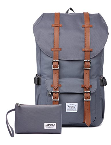 Outdoor Laptop-Rucksack, Reisen Wandern & Camping Rucksack Pack, Kaukko, Grau (CG 2PCS) (Rucksack)
