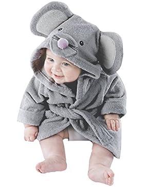 SECRET CHERISH Kinder Baby Bademantel mit Kapuze, Kapuzenbademantel Warmer Kinderbademantel mit Tiermotiven Winter...