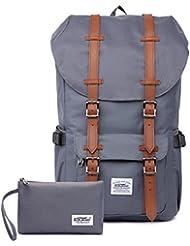 """Rucksack Damen Herren Studenten Backpack KAUKKO 17 Zoll Laptop Rucksack für 15"""" Notebook Lässiger Daypacks Schüler Backpacks Schultaschen of 2 Side Pockets für Wandern Reisen Camping"""