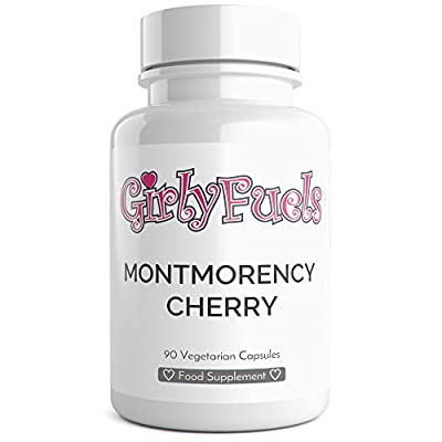 Montmorency Cherry Capsules Max Strength Montmorency Cherry Active Extract 90 Vegetarian Capsules from GirlyFuels