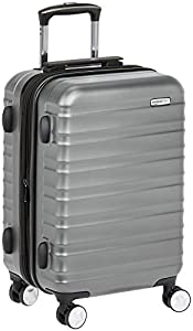 AmazonBasics - Hochwertiger Hartschalen-Trolley mit Schwenkrollen - 50,8 cm, Handgepäck, Grau