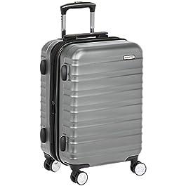 43f14128d0 AmazonBasics – Bagaglio a mano da cabina rigido con rotelle pivotanti, 55 cm  omologato per ...