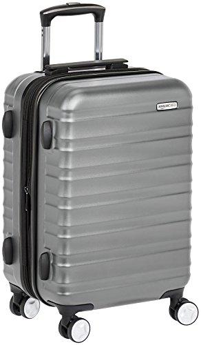 AmazonBasics - Hochwertiger Hartschalen-Trolley mit Schwenkrollen - 55 cm, Handgepäck, Grau, Genehmigt als Handgepäck auf vielen Airlines