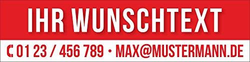 PVC Werbebanner Banner Plane Mit Wunschtext Zu vermieten verkaufen mit Ösen, 2000 x 500 mm