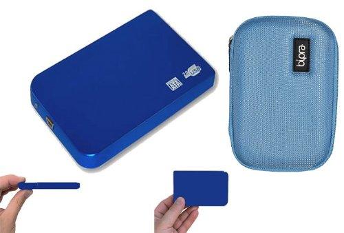 120GB DE ALMACENAMIENTO DISCO DISCO DURO EXTERNO PORTATIL USB + EVA CASE-BLUE CON (2YEARS GARANTIA DE SUSTITUCION DE HARDDRIVES247)