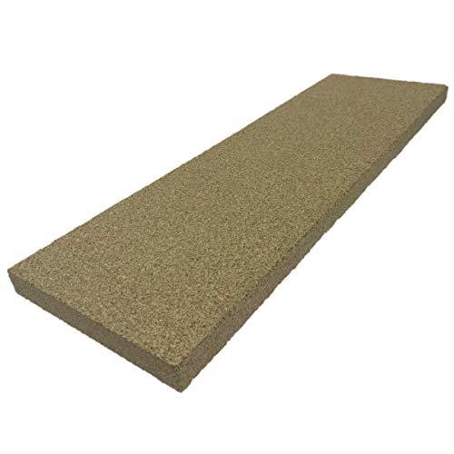 PUR Schamotte Vermiculite Platte 600x190x25mm 600KG/m³