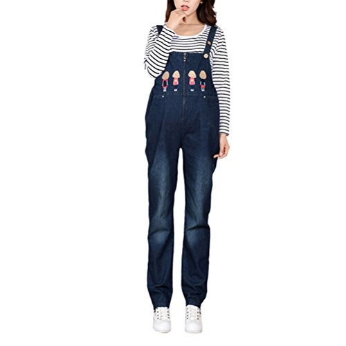 Zhhlaixing Fashion Pregnant Women Cowboy Overalls Jeans Plus Funny Partten Design Dungarees Pants for Schwangerschaft Pregnancy