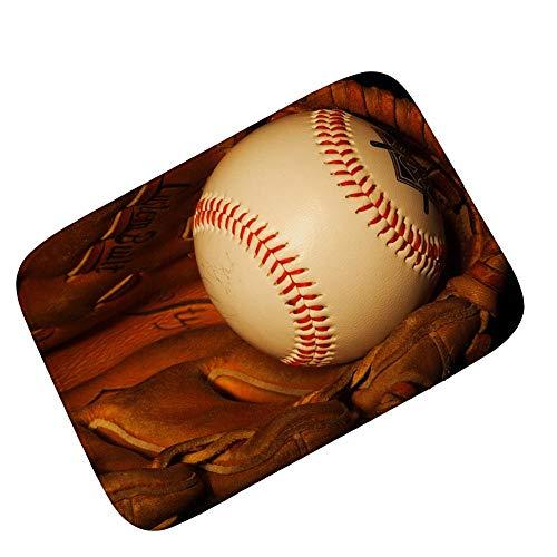 Wddwymll Fußball Druck Teppiche Für Wohnzimmer Schlafzimmer fußball Baseball Sport Tür Matte Badezimmer küche wasseraufnahme Rutschfeste Teppich - 60 cm x 90 cm, 2