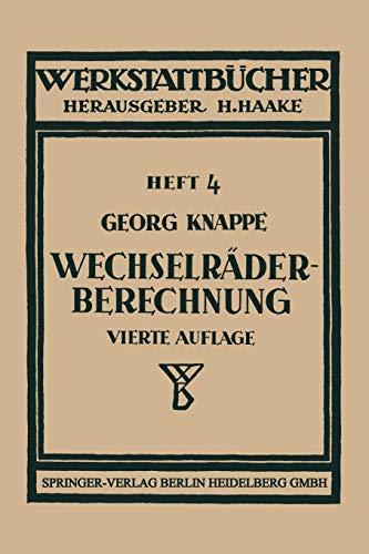 Wechselräderberechnung für Drehbänke (Werkstattbücher)