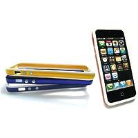 Emartbuy® Apple Iphone 5 5s Bundle Pack 4 Moulded Bumper Frame Gel Cover / Case Two Tone - Blau / Schwarz, Blau / Weiß, Orange / Weiß & Gelb / Weiß