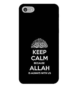 HiFi Designer Phone Back Case Cover Apple iPhone 6s Plus :: Apple iPhone 6s+ ( Keep Calm Allah is with Us )