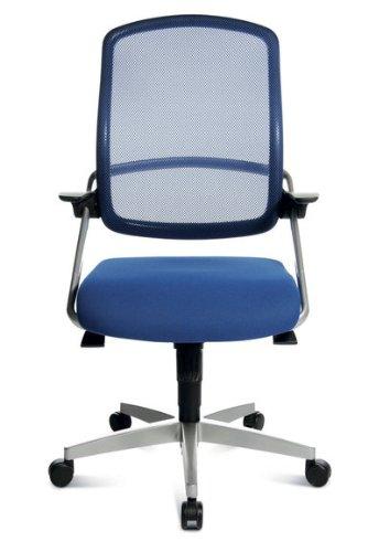 Topstar Bürodrehstuhl S Move op 10 blau – Doppelrollen-Set für Teppichböden - 2