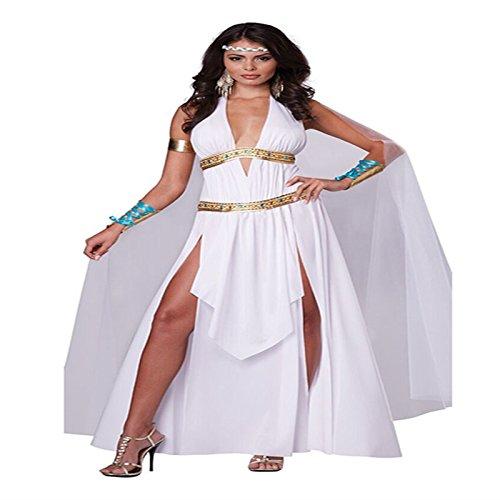 DLucc Alte ägyptische Königin Retro-Kleidung Hoftracht der griechischen Göttin Queen ausgestattet ()