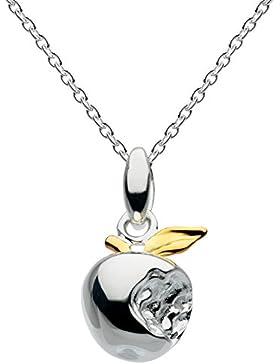 Dew Sterling Silber und Gold-Platte Bite Me 3D Apple 9461GD Halskette 45,7 cm