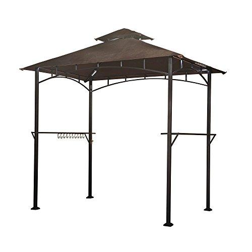 Sunjoy l-gg001pst-f Terrasse Soft Top Grill Pavillon mit LED, braun, 244x 151x 255cm