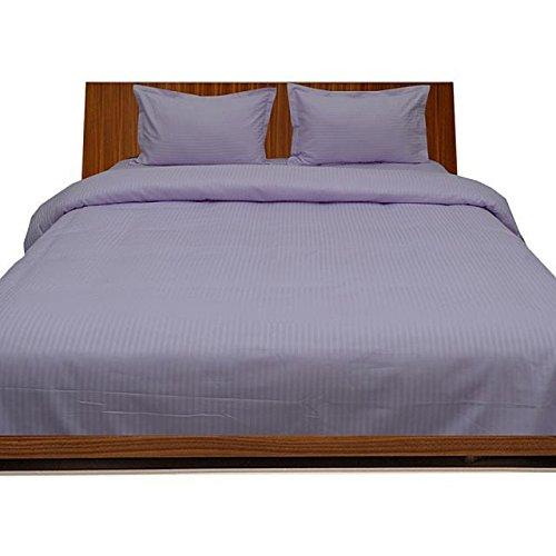 Premium Qualität Ägyptische Baumwolle 400-thread-count 400-tc Bettlaken mit Kissenbezug, UK Doppel Extra Silber Grau gestreift 100% Baumwolle Italienisches Finish -