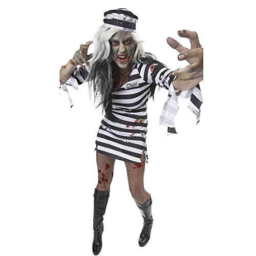 Verbrecher Weiblich Kostüm - PIN Halloween Kostüme Frauen Halloween Kostüm Weibliche Gefangene Zombie Outfit Cosplay Kostüm Uniform Leistung Kostüm,* l