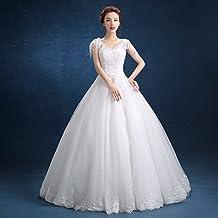 Q P Vestido de Novia Blanco de Novia Qi Di Slim Tama?o Grande Novia Hermosa