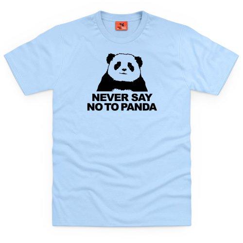 Never Say No To Panda T-Shirt, Herren Himmelblau