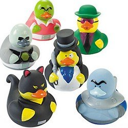 Packung mit 6 - Superheld Bösewichte Gummienten (Pack of 6 - Superhero Villain Rubber Ducks)