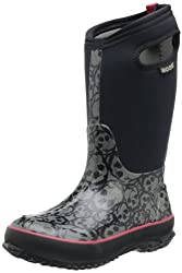 Bogs Classic Skulls Waterproof Insulated Rain Boot (Toddler/Little Kid/Big Kid), Black