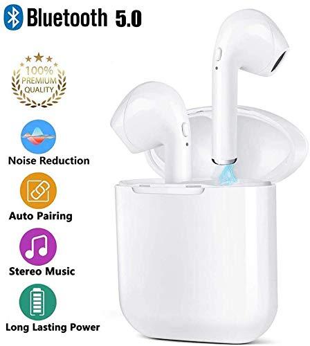 Écouteurs Bluetooth, Écouteurs sans Fil avec étui de Chargement Portable, Mic HD Intégré et Son 3D Stéréo, IPX5 Étanche, Ecouteur Bluetooth Sport pour Gym