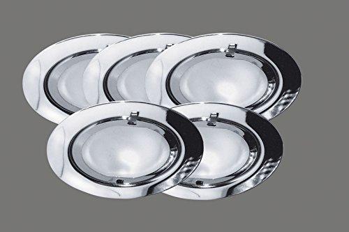 G4 Niedrigen Metall (Paulmann Möbeleinbauleuchte, Metall, G4, Silber)