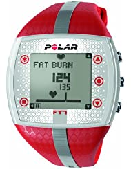 POLAR RED AND SILVER HEART RATE MONITOR WOMEN'S PLASTIC CASE UHR FT7F-RED/SIL