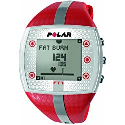 Polar Red and SilverHeart Rate Monitor LadiesWatch FT7F-RED/SIL