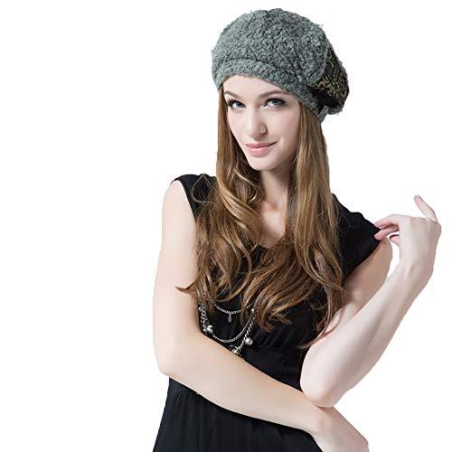 CWZJ Herbst-Und Winterfrauen Beret Wolle Spitzen Kuppel Hut Wolle Warm