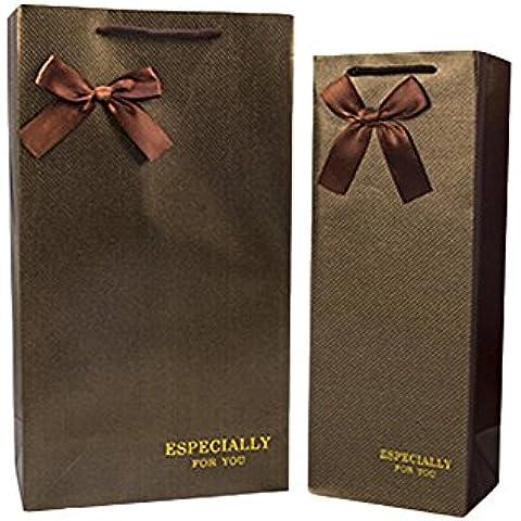YARBAR Riutilizzabili sacchetti regalo vino set di borse 10 pacchetti regalo per Anything