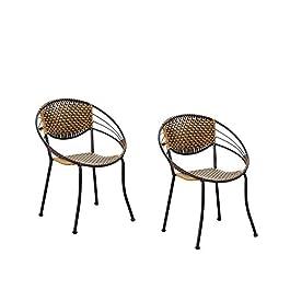 DCCYZ-YJ Chaise en rotin Petit Fauteuil en Plastique Tabouret Bambou Chaise Accueil Chaise Chaise Unique président tissé…