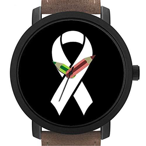 sene | Kinder | Geburtstag | Stilvolle niedliche Armbanduhr mit Bleistift Form Pointer Ornament Geschenk 066.Brustkrebs Bewusstseinsbildung ()