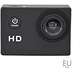Busirde SJ4000 Camera Action Sport DV 2.0 pouces plongée étanche 30M HD 720P Extreme Casque Mini caméscope noir 29.8x59.8x41 mm