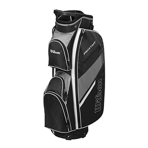 2015 Wilson Prostaff Cart Bag Mens Golf Trolley Bag 14-Way Divider Black/Grey