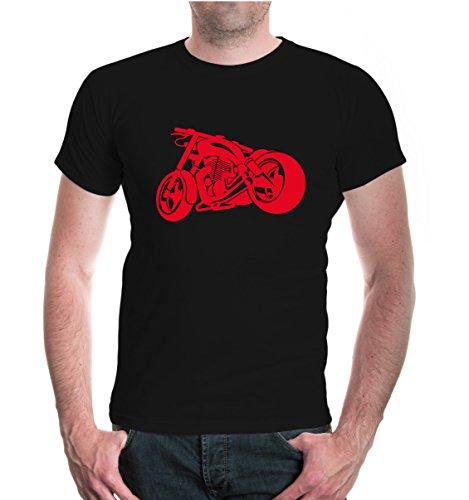 buXsbaum® T-Shirt Chopperbike V2 Black-Red
