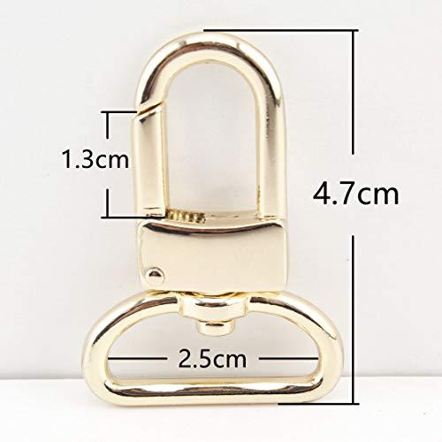 Zink Legierung Purse Hook Push Tor Karabinerhaken für Gurt Handtasche Tasche Schlüssel Ring DIY Craft, Nickel, Anti Bronze, Golden und Light Gold Farbe zu wählen 1 inch/25mm goldfarben