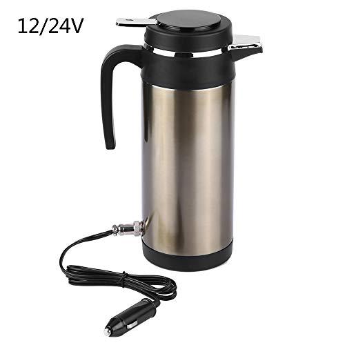 Auto Wasserkocher 24v, Edelstahl Elektrischer Wasserkocher des Wasser 1200V 24V Reise Thermosflasche Heizungs Wasser Flasche(24 V) -