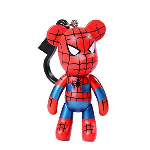 �sselanhänger, Teddybär, Kawaii-Sammlerstück, Marvel Comic Superhero, Silber, Metallic ()