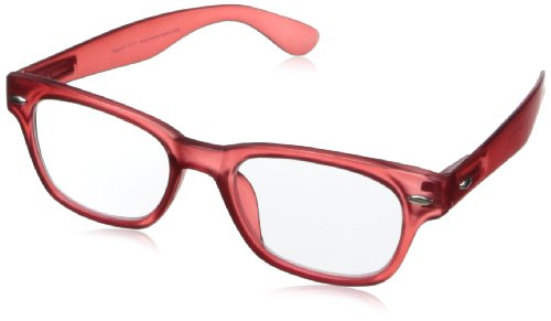 Peepers Rainbow Bright Retro Reading Glasses,Red,2.5