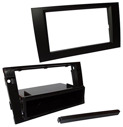 Preisvergleich Produktbild Aerzetix - Autoradio Adapter Radio Blende Autoradio Rahmen Adapter 1 DIN 2DIN Schwarz