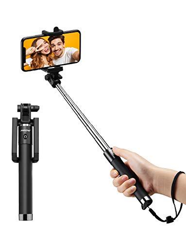 Mpow Selfie Stick Bluetooth, 270° einstellbar, Leichter ausziehbarer 31,9 Zoll Einbeinstativ mit Bluetooth Fernbedienung, Mini Selfie Stange für iPhone 11/11 PRO/XR/X/8, Galaxy S10/9/8/7/6 usw.