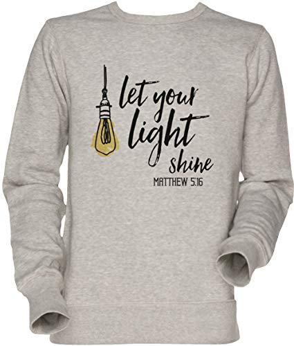 c52da27a55 Vendax Let Your Light Shine Matthew Shirt Christian Religious Jesus Christ  Gift - Let Your Light Shine Unisexe Homme Femme Sweat-Shirt Jersey Gris  Men's ...