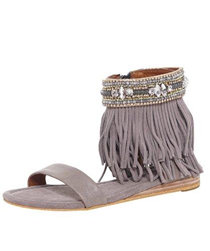 Alma en Pena Sandali cinturino alla caviglia di diamante 36 Taupe