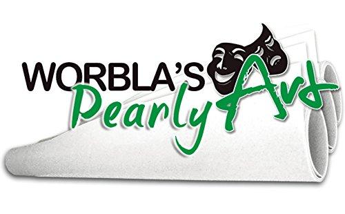 Preisvergleich Produktbild Worblas Perl / Pearly Art Platte Größe S (50x37, 5cm Bastel Cosplay) thermoplastischer Werkstoff